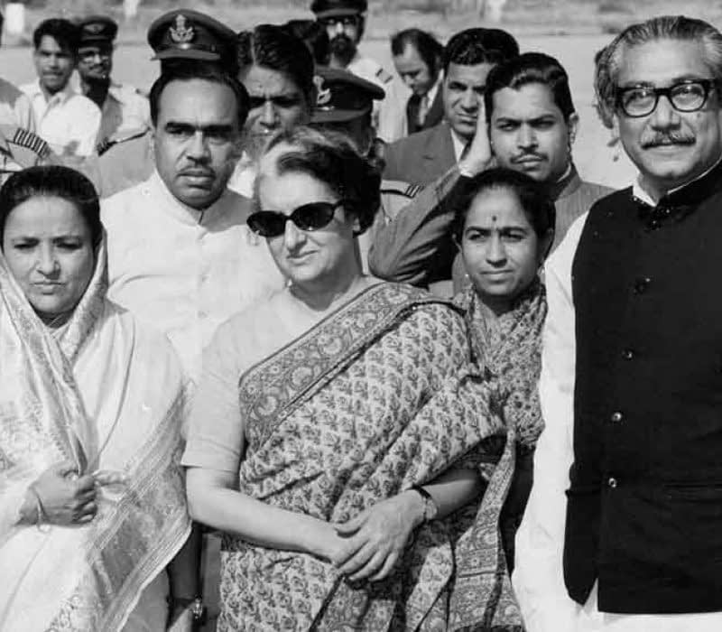 Indira-Gandhi-with-Bangladesh-Prime-Minister-Sheikh-Mujibur-Rehman.-Photo.-Idian-Defense-Review